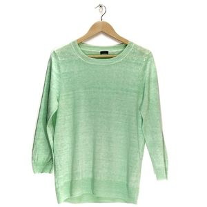J.Crew | Linen Tippi Sweater in Neon Green